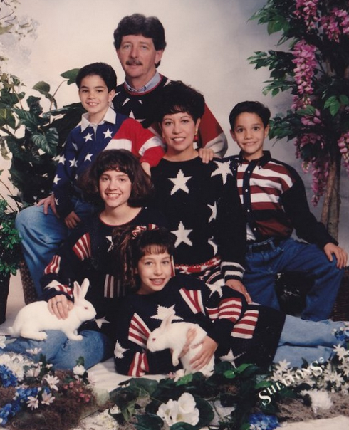 american flag family photos