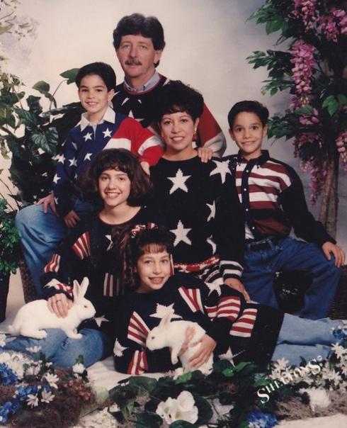 american flag family photos