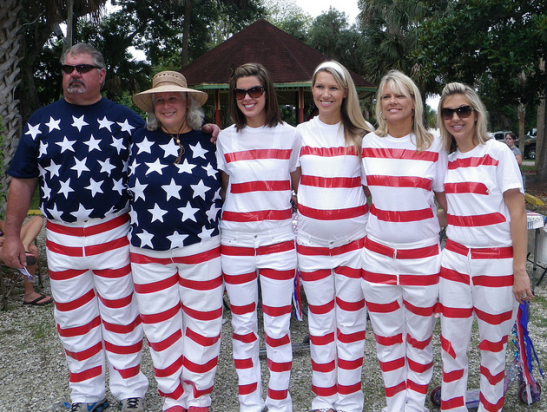 patriotic family