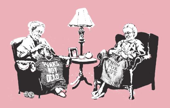 banksy thug grandma